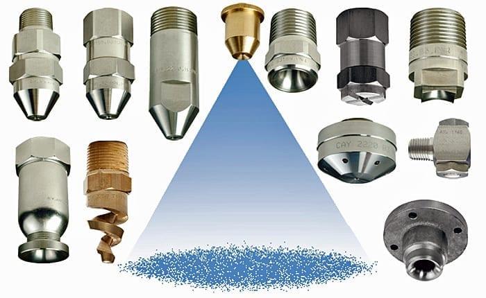 General purpose nozzles flat fan full cone hollow