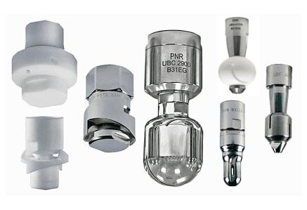 Reaction Drive PNR Italia spray nozzles - Teste rotanti ugelli spruzzatori