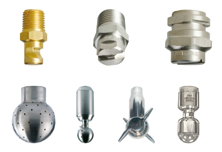 Nozzles for stock preparation